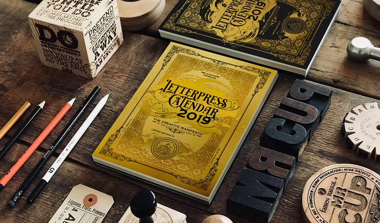 letterpress kalender Mr cup behance