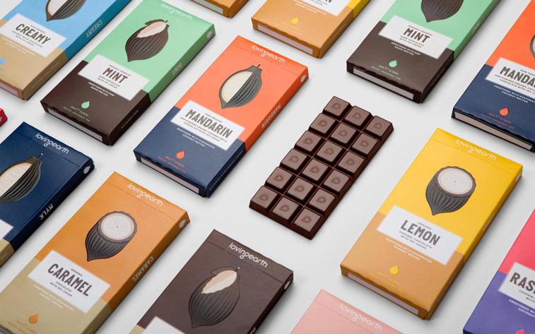 LovingEarth schokoladeverpackung