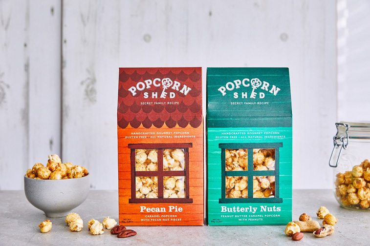 Popcorn Shed dichromatische verpackung