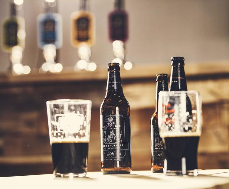 bier verpackungsdesign beerbros glaesser