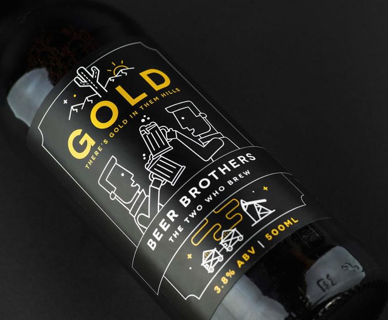 bier verpackungsdesign beerbros gold