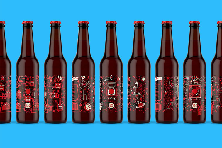 bier verpackungsdesign moscow red button 1