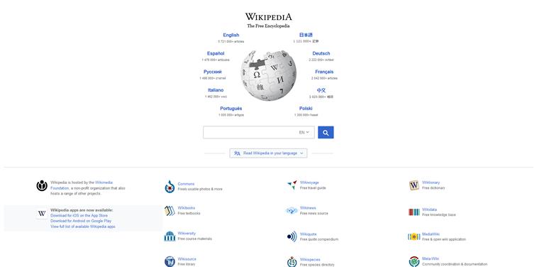 Wikipedia 2018