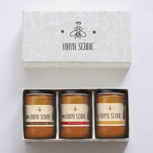 Inspirative Beispiele für Entwurf der Honigetiketten