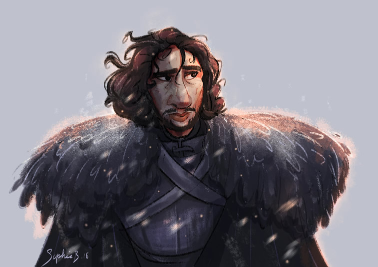 John Snow game of thrones sophie barocas