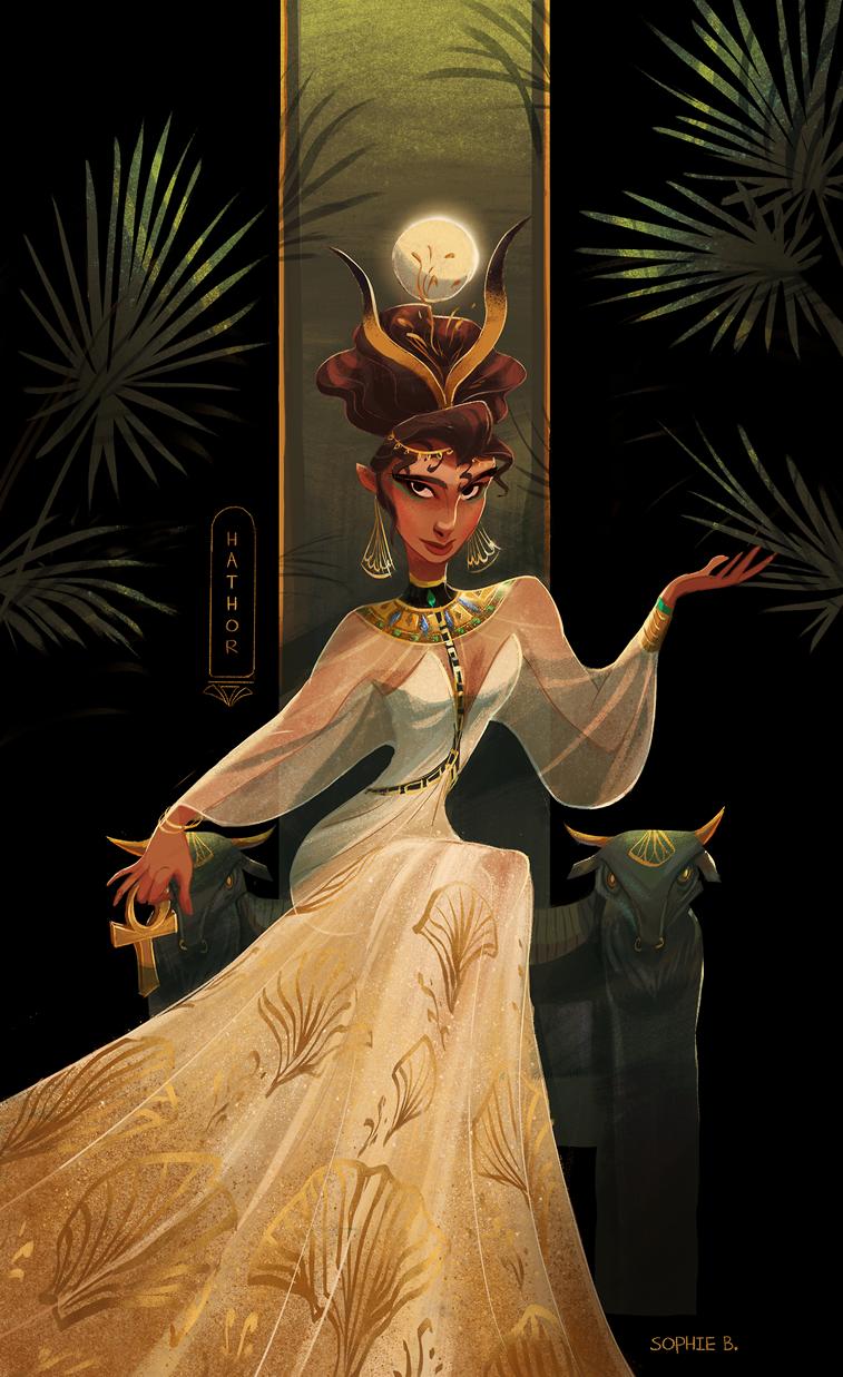 Ägyptische Göttin Hathor