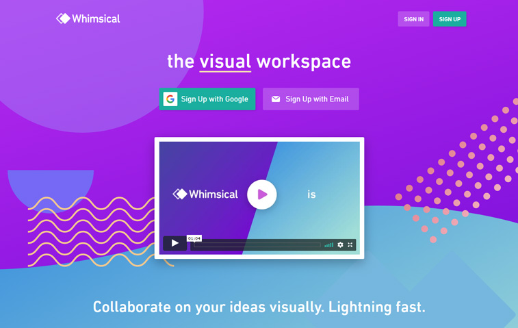 whimsical design tool