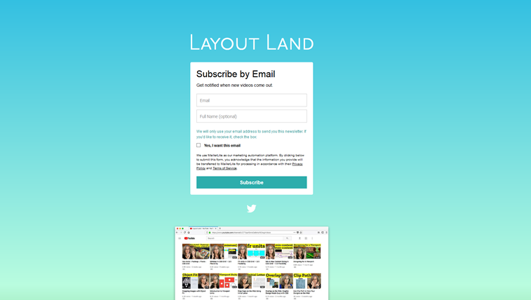 Layout land newsletter