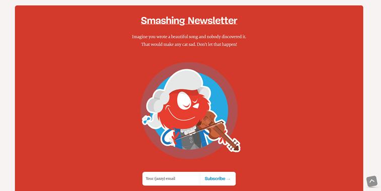 Smashing newsletter anmeldung