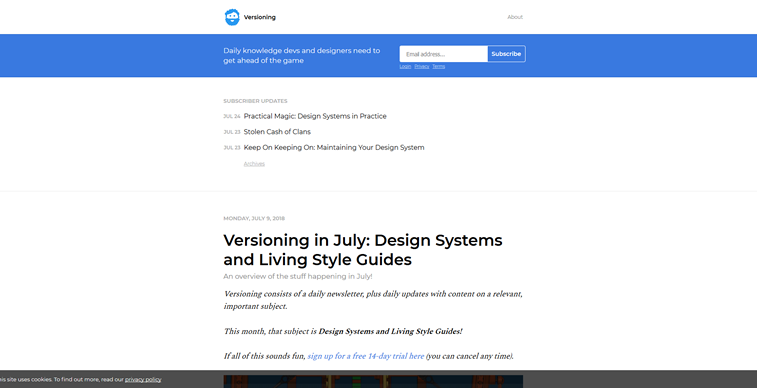Versioning newsletter