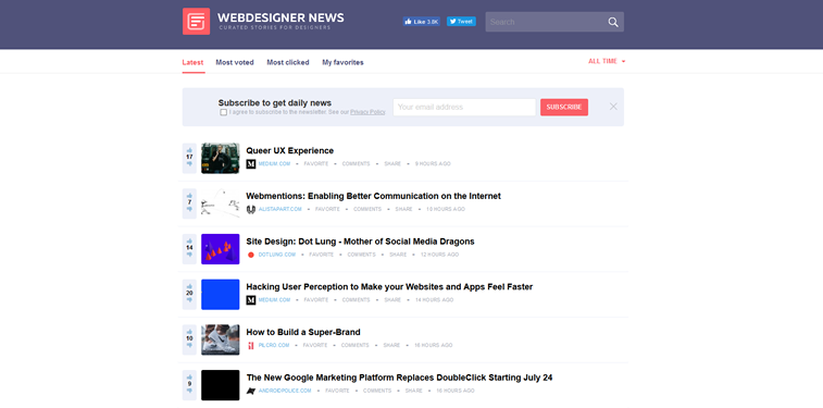 webdesigner news