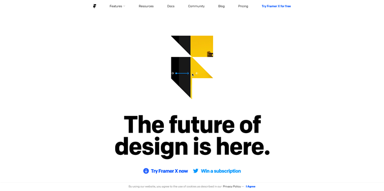 Framer X Homepage