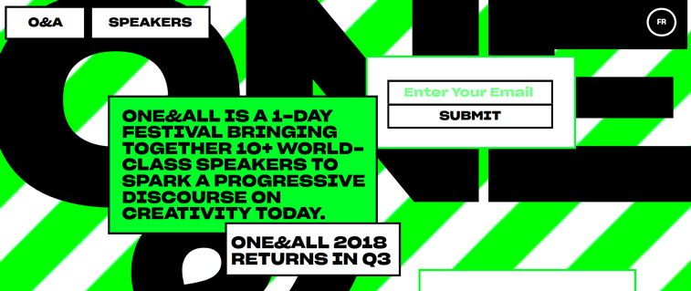 one and all festival homepage