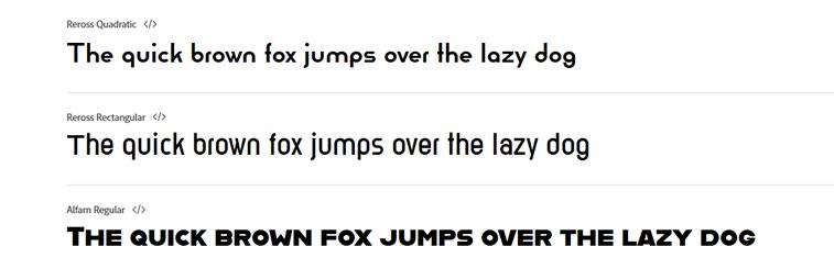 bauhaus fonts textanzeige