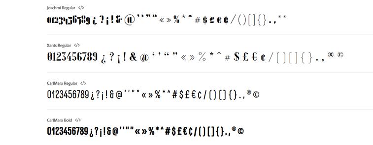 zeichen buchstaben typografie adobe bauhaus