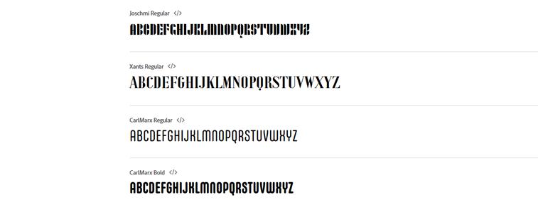 alphabet bauhaus buchstaben