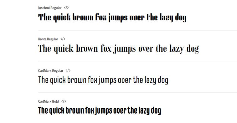 bauhaus fonts adobe beispiel