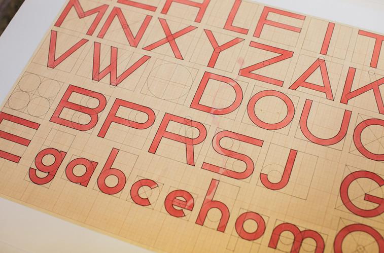 bauhaus typografie alphabet