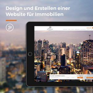 Design und Erstellen einer Website für Immobilien