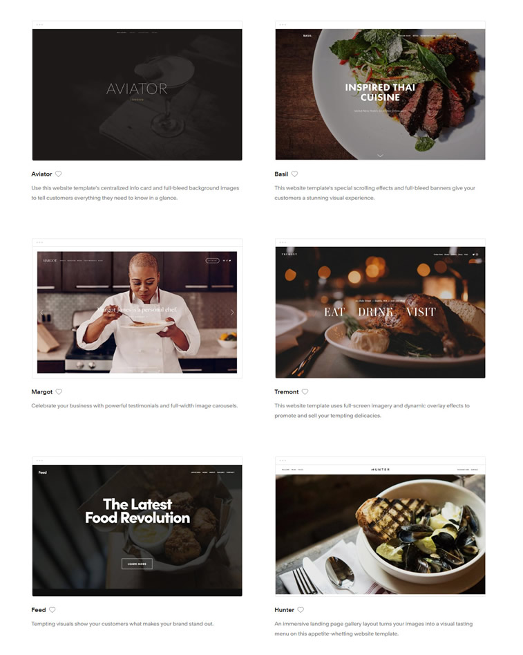webdesign websiteerstellung für restaurant squarespace