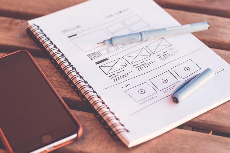 webdesign skizze erstellung einer einzigartigen website wireframe