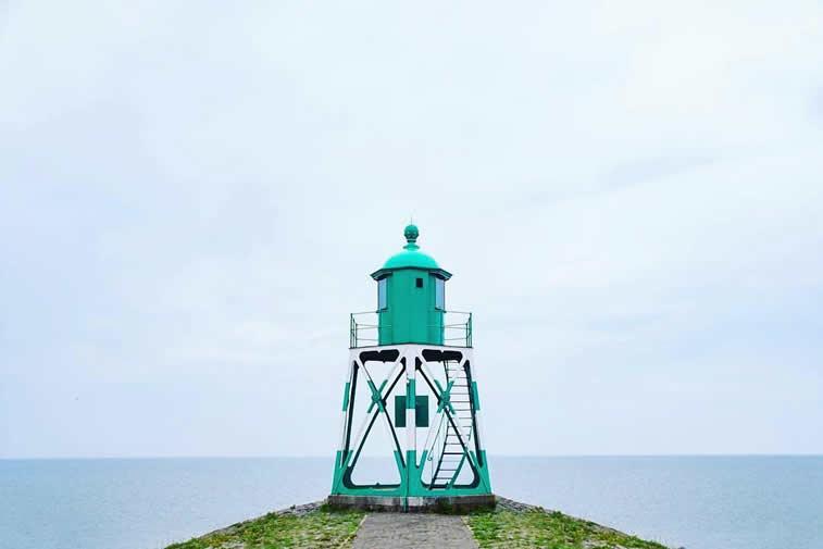 grüner Leuchtturm