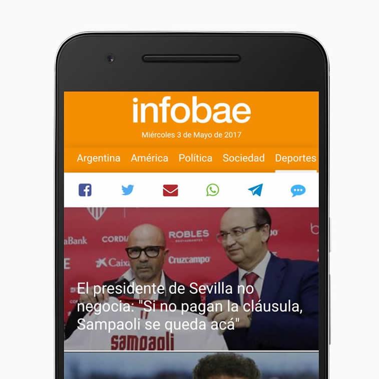 nfobae nachrichtenportal pwa spanisch