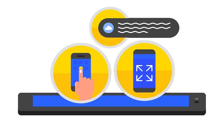 pwa progressive web app auf handys grafik