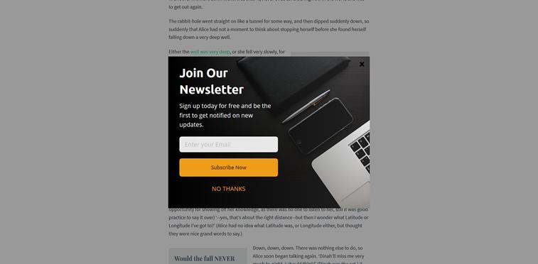 Newsletter Beispiel