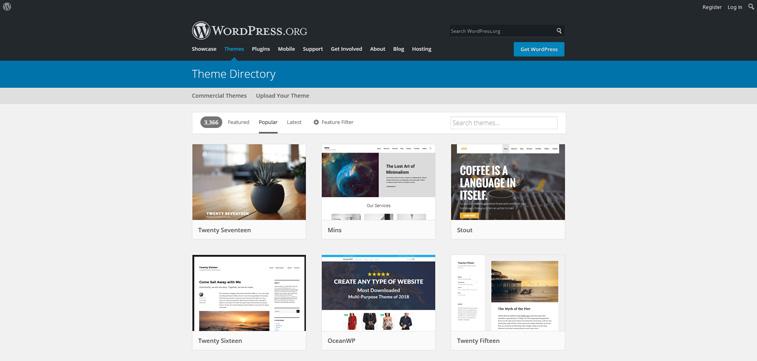 Populäre WordPress Themen