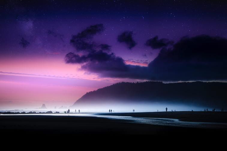 Der violette Himmel