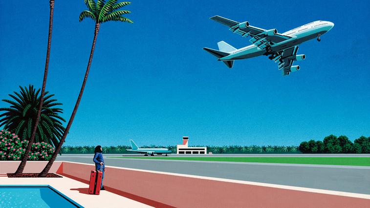 Flugzeug in Kalifornien