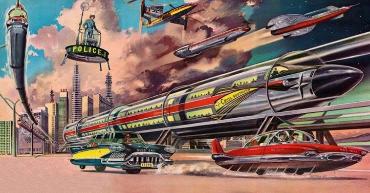 Zug und Auto Illustration von Shigeru