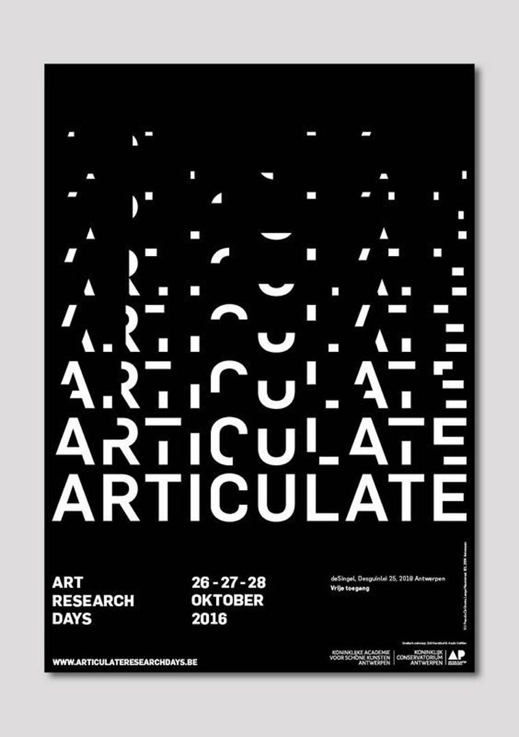 Articulate poster by Zoë Kerckhofa und Anaïs Cuillier