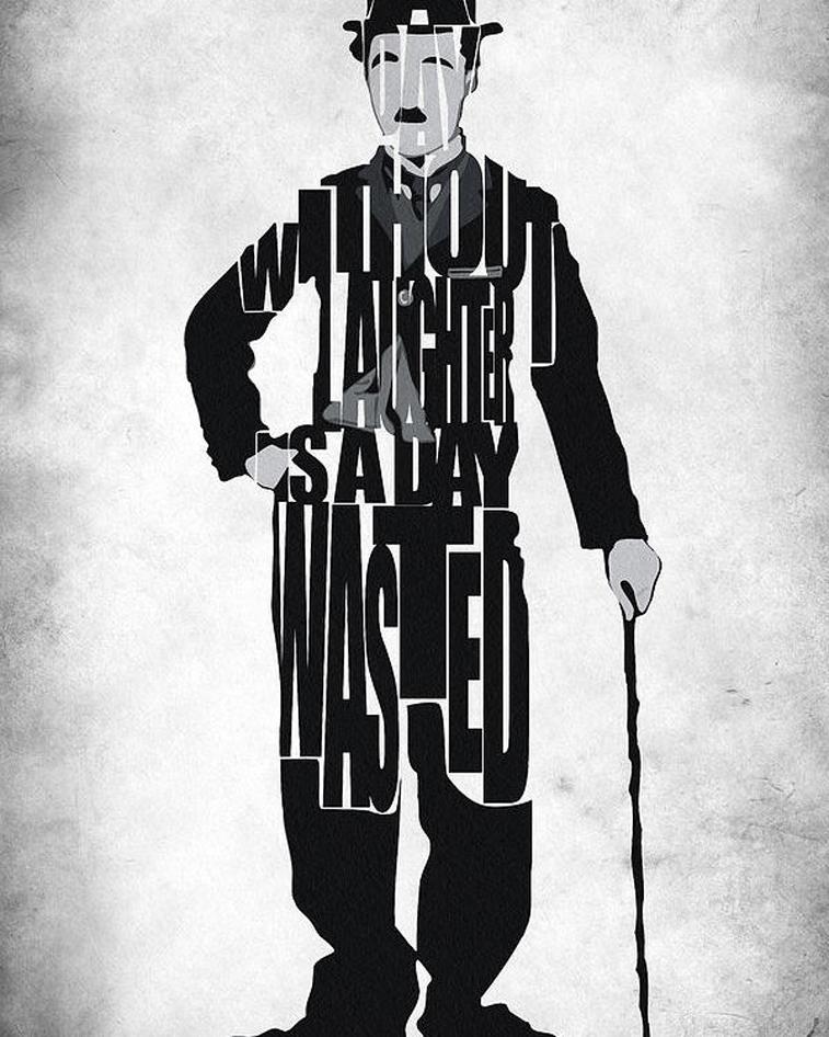 Charlie Chaplin Typografieposter