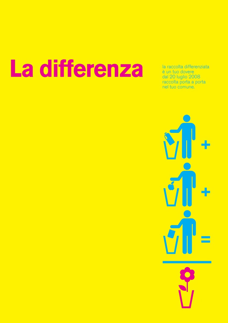 La differenza Poster by Maddalena Pignatiello