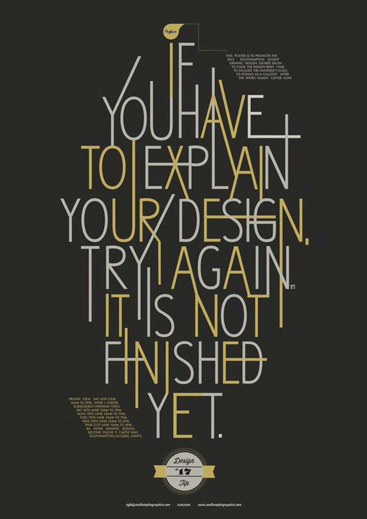 Typografie-Poster