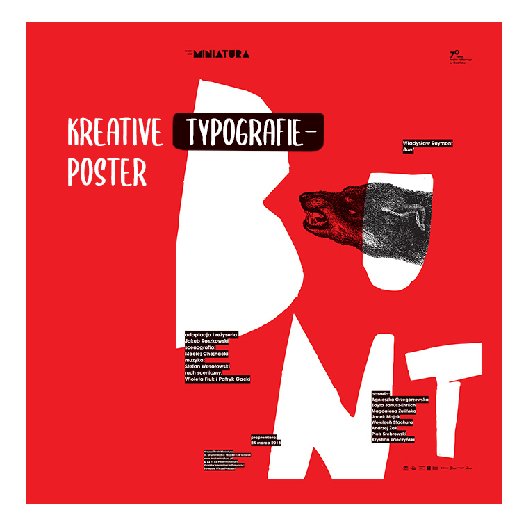 Erstaunliche Typografie-Poster, die Ihr kreatives Genie stärken