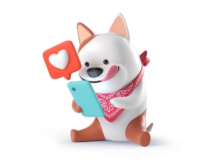 Süsser 3D Hund