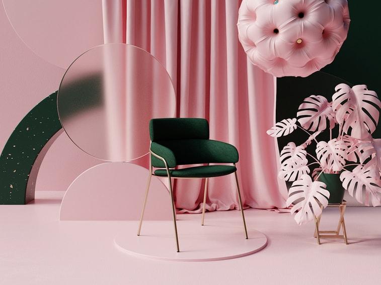 3D rosa Zimmer