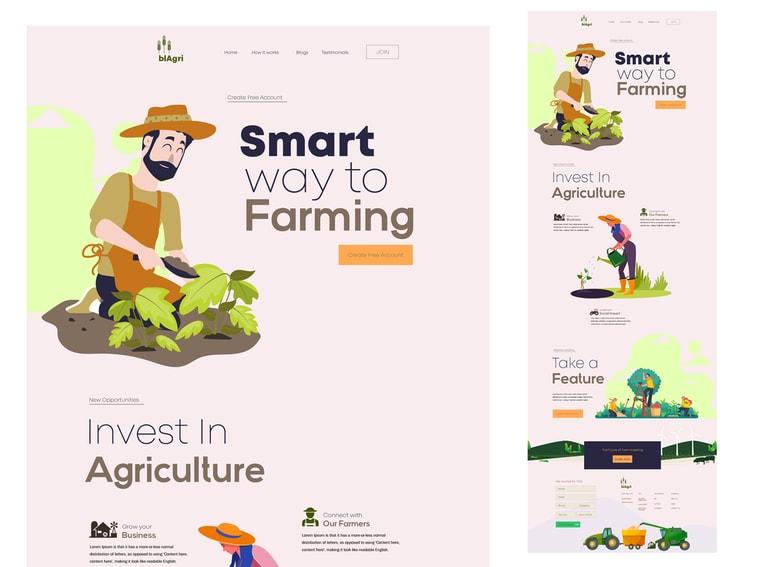 Landwirtschaftswebsite