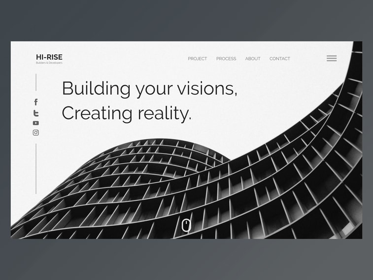 Building app black and white