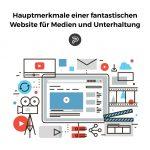 Unterhaltungswebsite