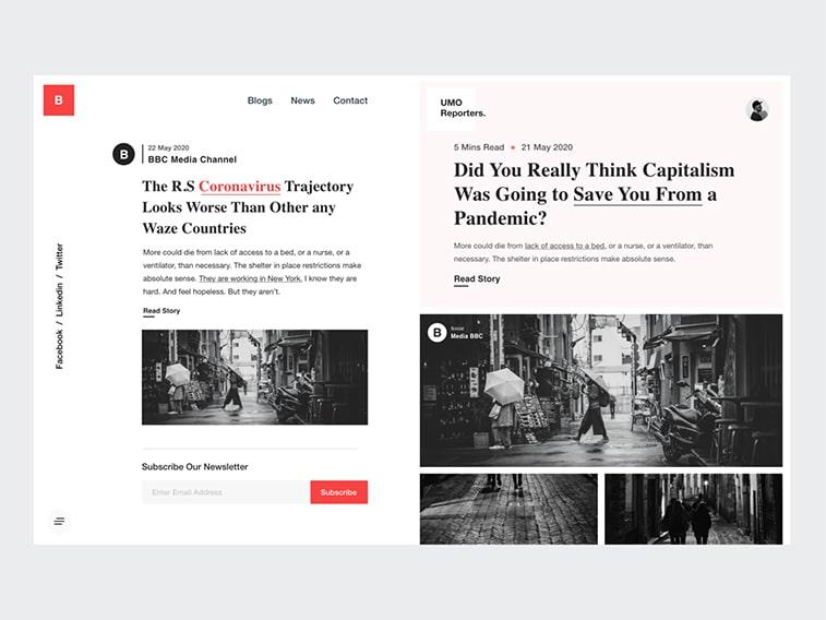 Website-Konzept Nachrichten