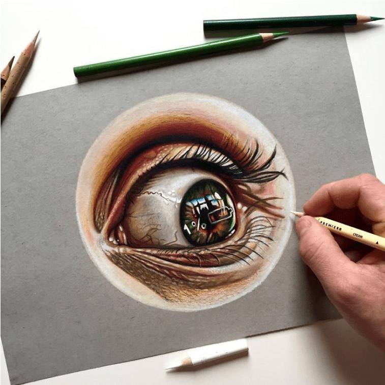 Batterie im Auge