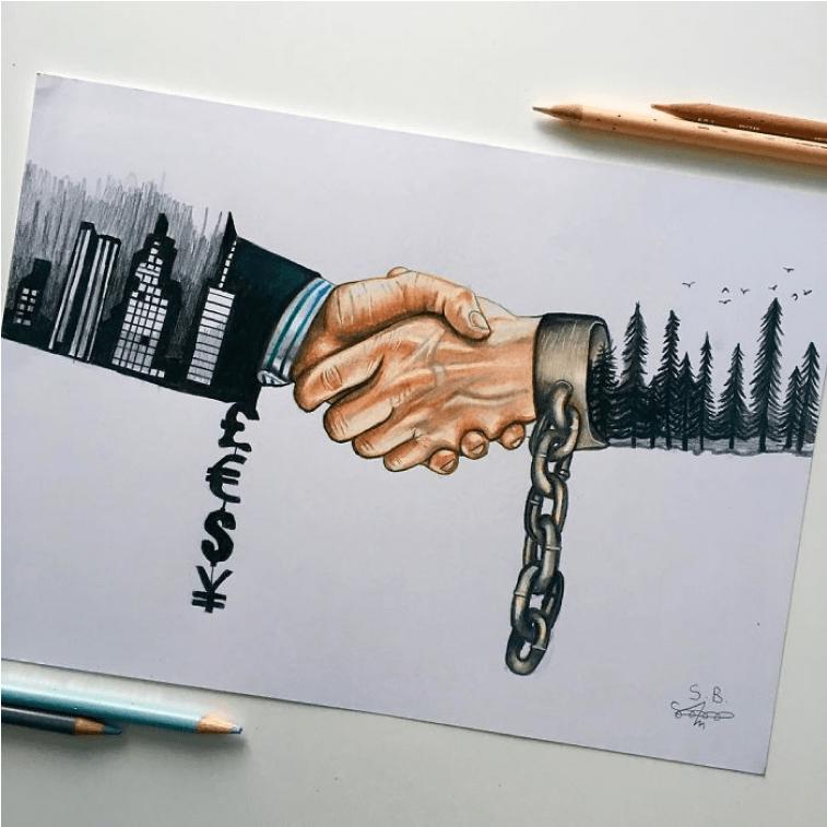 Hand schütteln