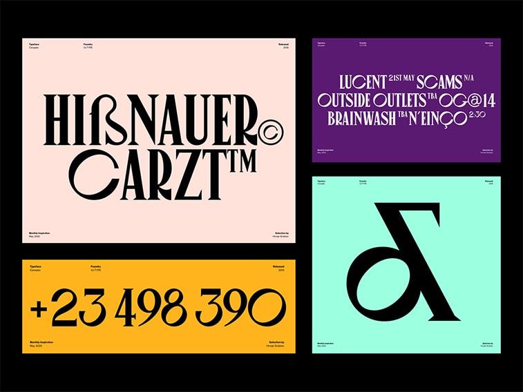 Freche Typografie