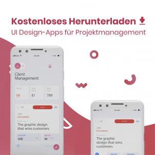 UI Design-Apps für Projektmanagement – kostenloses Herunterladen