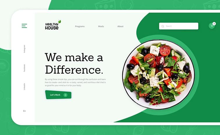 Bildschirm Website-Design